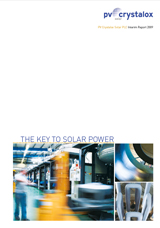PV Crystalox Interim Report 2009